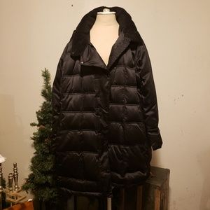 Lane Bryant Women's Black Warm Puffer Coat